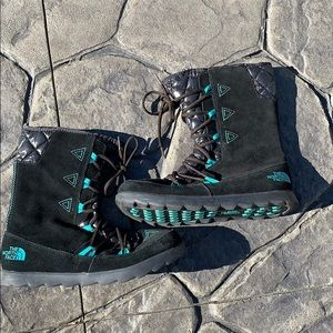 The North Face lace up winter boots